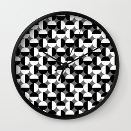 Geometric Circles Grey/Gray Wall Clock