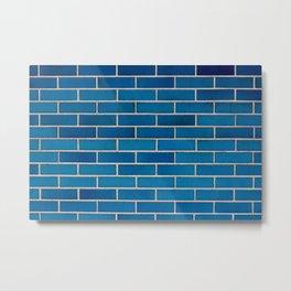 Blue Bricks Metal Print