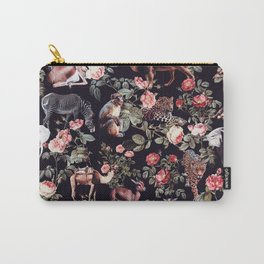 Animals and Floral Pattern Carry-All Pouch