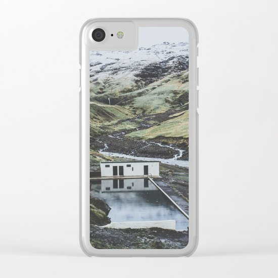 Seljavallalaug, Iceland Clear iPhone Case