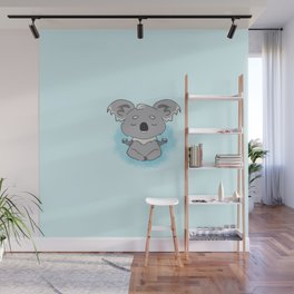 Calm happy meditating Koala Wall Mural