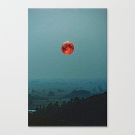 Golden Moon Over a hill by Adam Asar 2 Canvas Print
