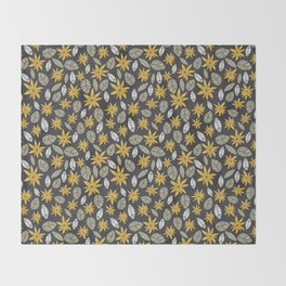 Safari floral pattern Throw Blanket