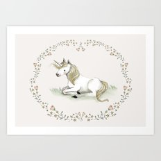 Unicorn. Art Print