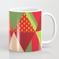 strawberry Mugs featuring strawberry by Gray