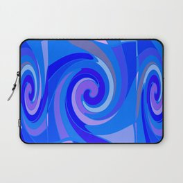 Shades of Blue Swirling  Modern Art Abstract  Laptop Sleeve
