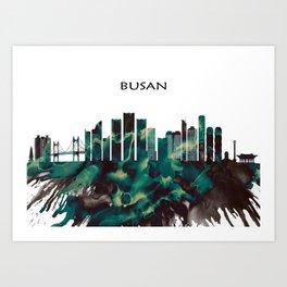 Busan Skyline Art Print