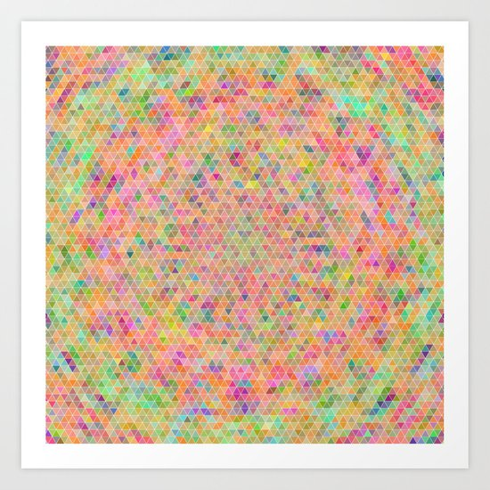 Triangular Vortex Art Print