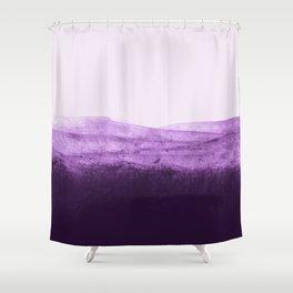 Amethyst Watercolor Crush Shower Curtain