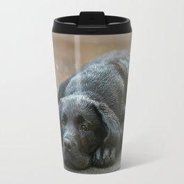 Labrador dog in the rain ! Travel Mug