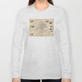 Vintage Map of Leeds England (1851) Long Sleeve T-shirt