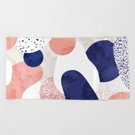 Terrazzo galaxy pink blue white Beach Towel