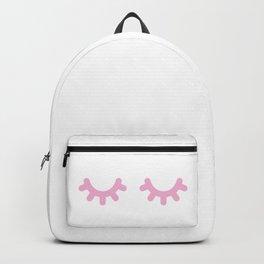 Sleepy Eyes - Pink Backpack