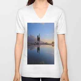 cat and water Unisex V-Neck