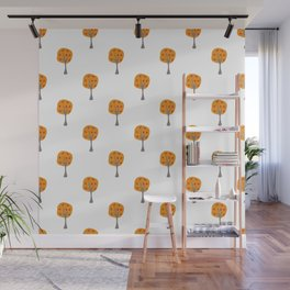 Seamless Pattern with beautiful trees Wall Mural