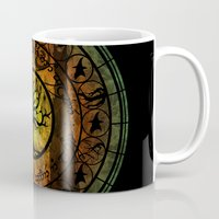 gondor Mugs featuring Tree of Gondor Stained Glass by Mazuki Arts