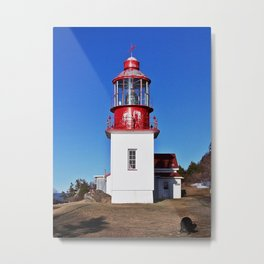 Lighthouse Cap-Chat Quebec Metal Print