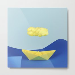 The yellow cloud over the yellow ship Metal Print