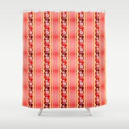 Red Hibiscus Hawaiian Honu Shower Curtain