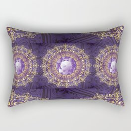 Decorative Background with Round Amethyst Rectangular Pillow
