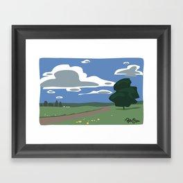 Vector Scenic Framed Art Print