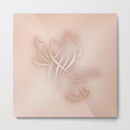 Rose Gold Abstract Art Metal Print