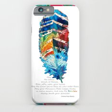 Colorful Feather Art -  Blessing - By Sharon Cummings Slim Case iPhone 6