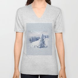 winter scene Unisex V-Neck