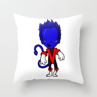 nightcrawler Throw Pillows featuring NIGHTCRAWLER by Space Bat designs