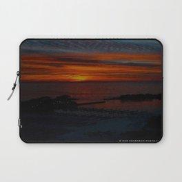 Lake Michigan Sunrise l'Orange (Chicago Sunrise/Sunset Collection) Laptop Sleeve