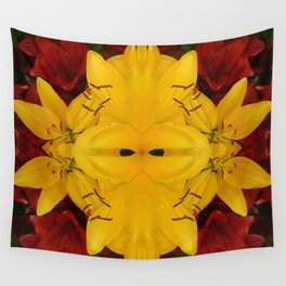 """""""A Gathering of Lilies"""" Remix - 2 (3-1) [D4466~24] Wall Tapestry"""