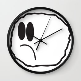 Lonely Meatball being lonely Wall Clock