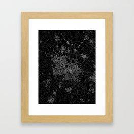 Birmingham map Framed Art Print