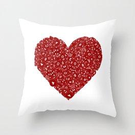 Dice Love Throw Pillow