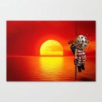 bioshock Canvas Prints featuring sunset bioshock by sgrunfo