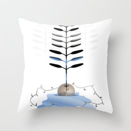 Growing is forever Throw Pillow