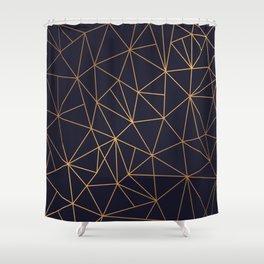 Golden Mosaic Shower Curtain