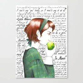 Jo March - Little Women Canvas Print
