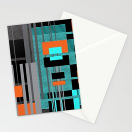 Bright Square Lines Stationery Cards
