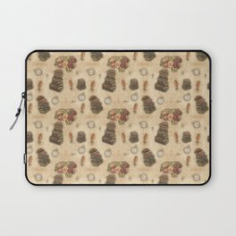 Steampunk Vintage Books and Roses Laptop Sleeve