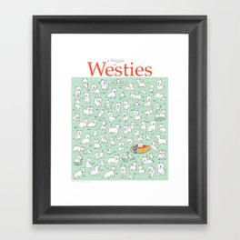 A Waggle of Westies Framed Art Print