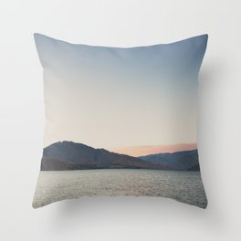 sunset over the lake ... Throw Pillow
