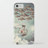 karu kara iPhone & iPod Cases featuring The Rose That Wanted to See the World by Paula Belle Flores