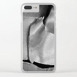 9/11 Memorial Scrap Metal Clear iPhone Case