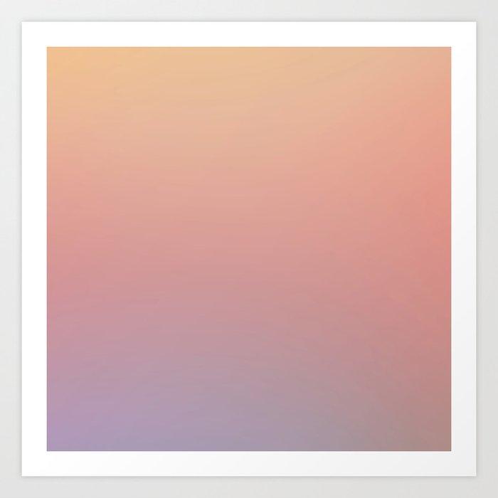AFTER THOUGHTS - Minimal Plain Soft Mood Color Blend Prints Art Print