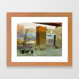 George Bellows - The Lone Tenement, 1909 Framed Art Print