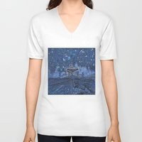 las vegas V-neck T-shirts featuring las vegas by Bekim ART