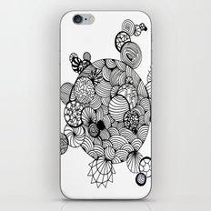 Geometric Art Circles Sunbursts lines pen and link iPhone & iPod Skin