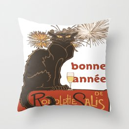 Bonne Annee Happy New Year Parody Throw Pillow
