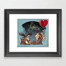 eye love u UU U u u Framed Art Print